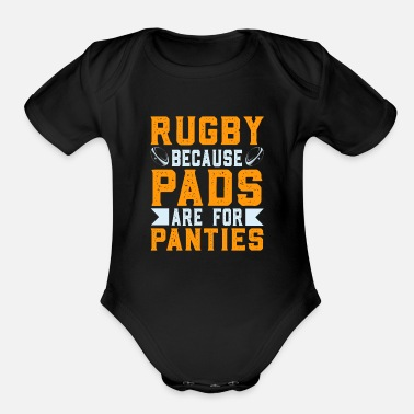 Rugby Rugby Player Funny Saying - Organic Short-Sleeved Baby Bodysuit