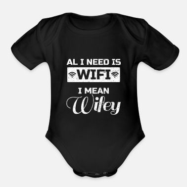 Husband And Wife Quotes wedding husband wife wedding Quote funny awesome - Organic Short-Sleeved Baby Bodysuit