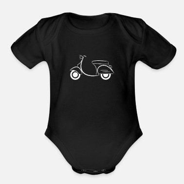 Moped white - Organic Short-Sleeved Baby Bodysuit