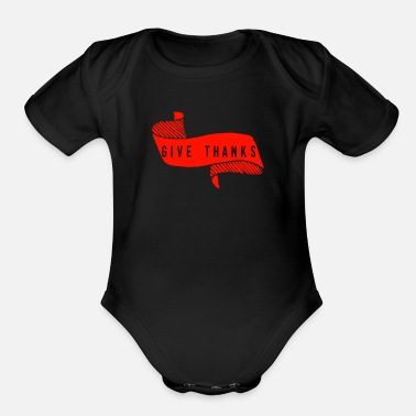 Thankful Thank - Organic Short-Sleeved Baby Bodysuit