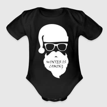 winter - Organic Short Sleeve Baby Bodysuit