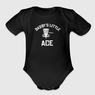 Daddy's Little Ace Disc Golf Shirt - Organic Short Sleeve Baby Bodysuit