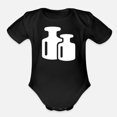 Weights Weights - Organic Short-Sleeved Baby Bodysuit