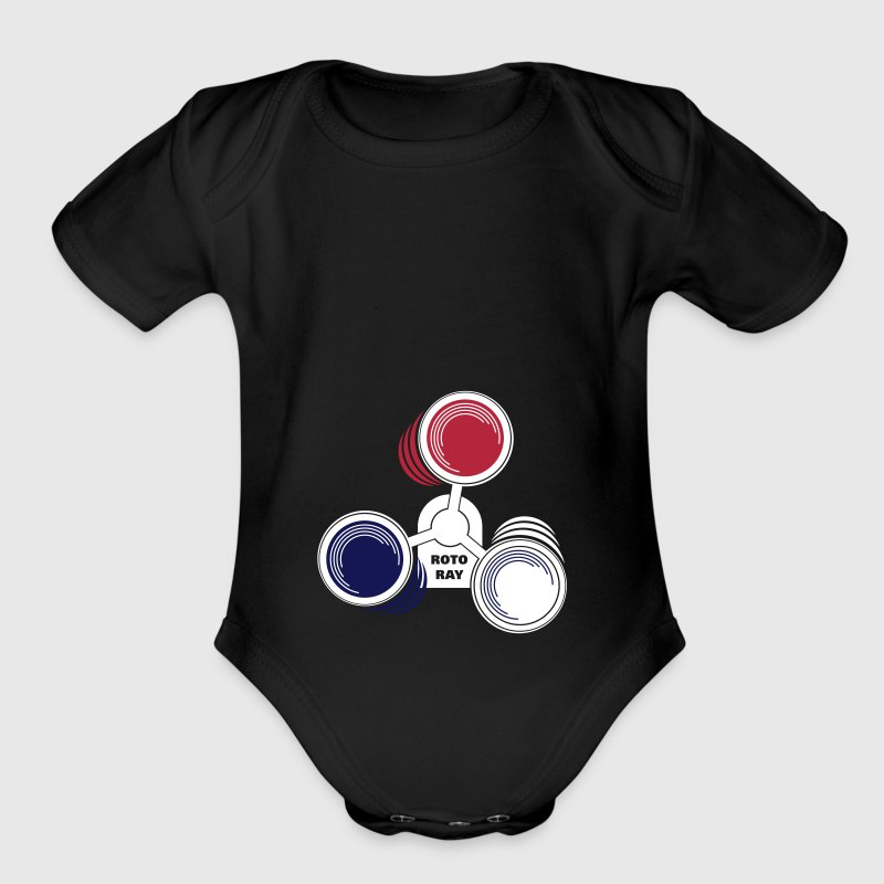 Roto Ray warning lights - Organic Short Sleeve Baby Bodysuit