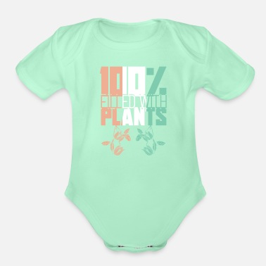 Bio Filled with plants - Organic Short-Sleeved Baby Bodysuit