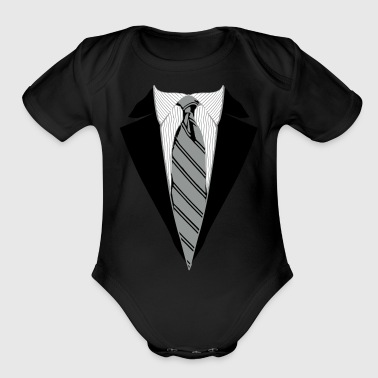 Suit Suit and Tie Tee, Coat and Tie T-shirt - Organic Short Sleeve Baby Bodysuit