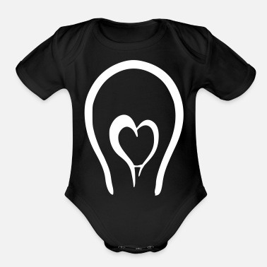 Easy love bulp love lights up - Organic Short Sleeve Baby Bodysuit