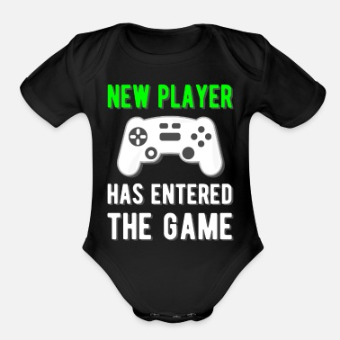Player New Player has entered the Game - Organic Short-Sleeved Baby Bodysuit