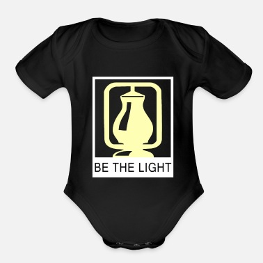 Light Be the light - Organic Short Sleeve Baby Bodysuit