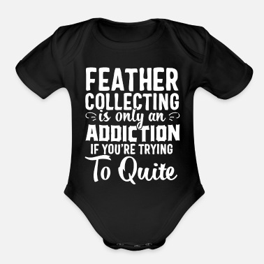 Collections feather collecting - Organic Short Sleeve Baby Bodysuit