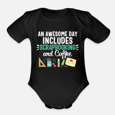 Pen Scrapbooking Women Tape Scissors Glue Pens Coffee - Organic Short Sleeve Baby Bodysuit