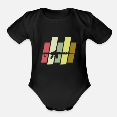 M16 Weapons M16 - Organic Short-Sleeved Baby Bodysuit