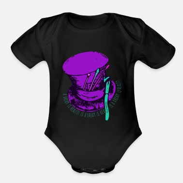Alice In Wonderland Alice in Wonderland | A Dream Is Reality Design - Organic Short-Sleeved Baby Bodysuit