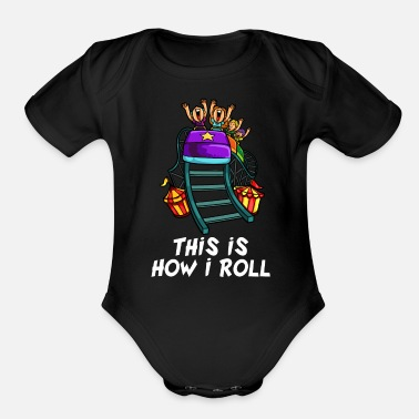 Theme Roller Coaster Lovers Funny Theme Park Junkie Gift - Organic Short-Sleeved Baby Bodysuit