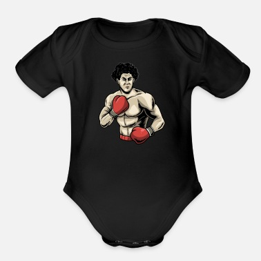Referee Boxing Boxer FIghting - Organic Short-Sleeved Baby Bodysuit
