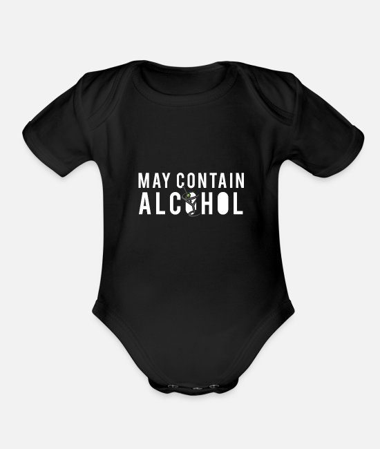 Wine Baby One Pieces - Alcohol liquor gift idea - Organic Short-Sleeved Baby Bodysuit black