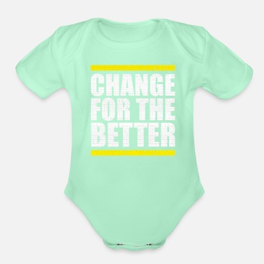 Change change - Organic Short-Sleeved Baby Bodysuit