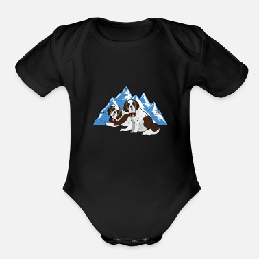 Team Saint Bernard Saint Bernard Rescue Dog K9 Unit SAR - Organic Short-Sleeved Baby Bodysuit