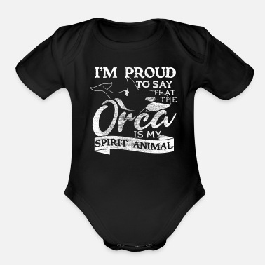 Sea Animal Orca water - Organic Short-Sleeved Baby Bodysuit
