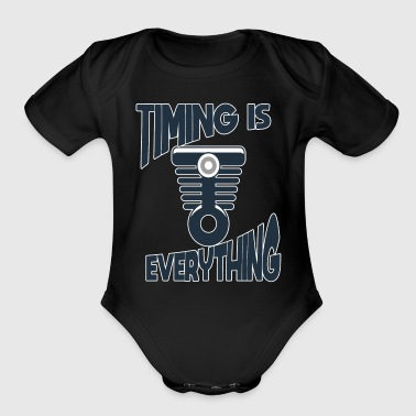 V8 Timing Is Everything Mechanics V8 - Organic Short Sleeve Baby Bodysuit