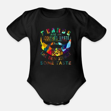 Facial Hair Beard facial hair mustache - Organic Short-Sleeved Baby Bodysuit