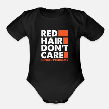 Care I don't care about red hair - Organic Short-Sleeved Baby Bodysuit