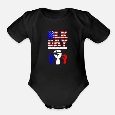 Mlk MLK Holiday - Organic Short-Sleeved Baby Bodysuit