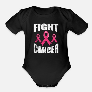 Fight Cancer Cancer Fight - Organic Short-Sleeved Baby Bodysuit