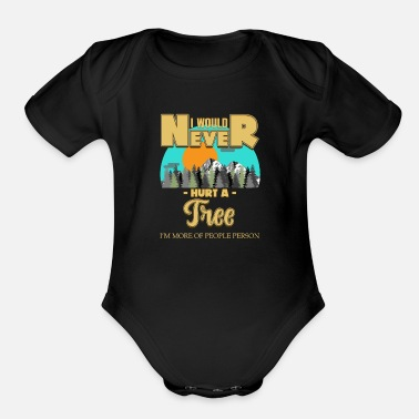 Nature Lovers nature lover - Organic Short-Sleeved Baby Bodysuit