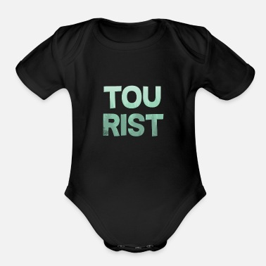 Tourist Tourist - Organic Short-Sleeved Baby Bodysuit