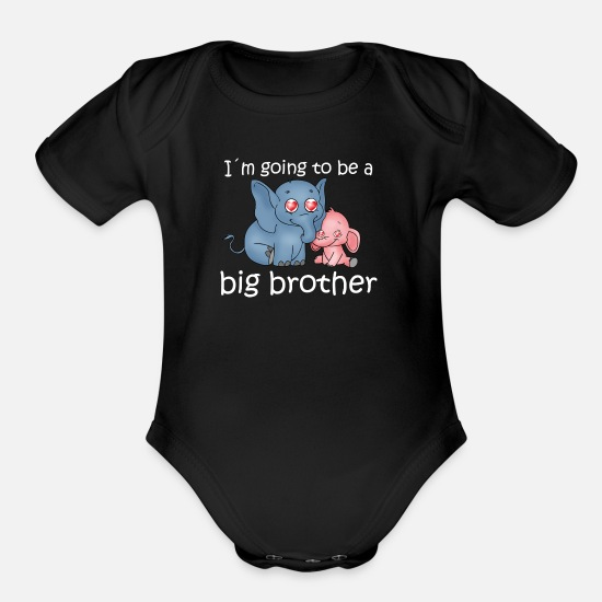Brother Baby Clothing - Big Brother - Organic Short-Sleeved Baby Bodysuit black
