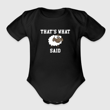 That's What Sheep Said - Organic Short Sleeve Baby Bodysuit