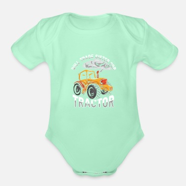 Best Dad Funny Gift Farmer Chicken Farm Shirt - Organic Short-Sleeved Baby Bodysuit