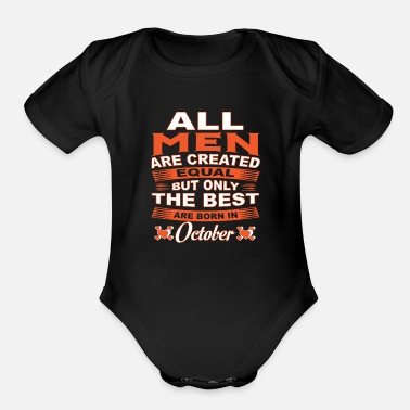 October Born OCTOBER BORN ARE THE BEST - Organic Short-Sleeved Baby Bodysuit