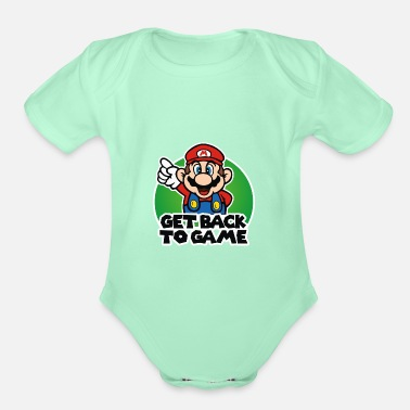 Super Get Back To Game Mario Bros - Organic Short-Sleeved Baby Bodysuit