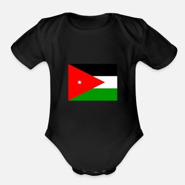 3e7f57d4e1e2 Jordan Flag of Jordan (jo) - Organic Short-Sleeved Baby Bodysuit