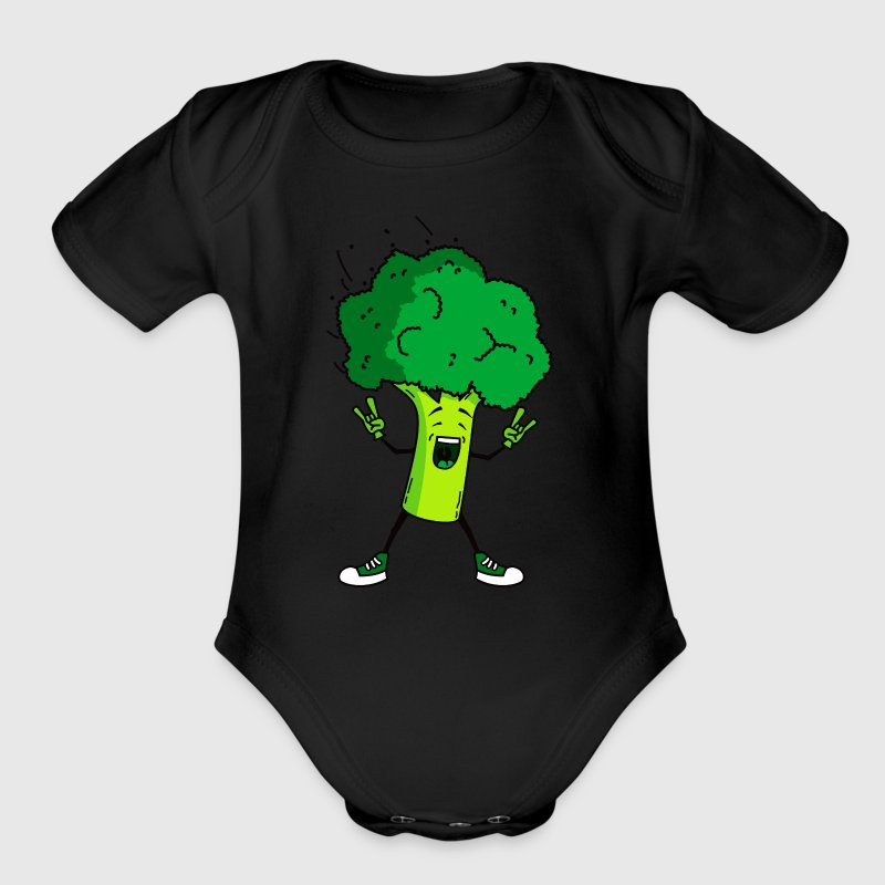 Broccoli rocks - Organic Short Sleeve Baby Bodysuit
