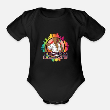 Lifting Martial Arts Gift Sport Music Training Karate - Organic Short-Sleeved Baby Bodysuit