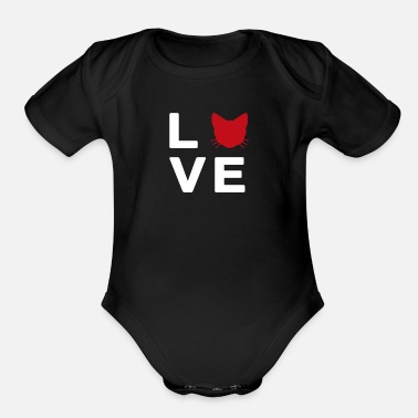 Cat Lover Cat Lover - Organic Short-Sleeved Baby Bodysuit
