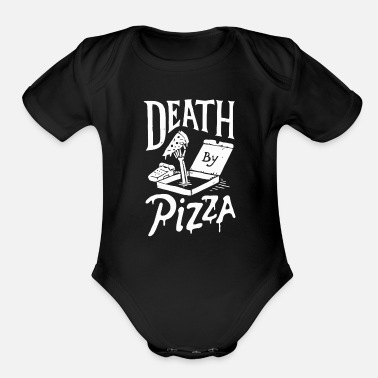 Death By Pizza - Organic Short-Sleeved Baby Bodysuit