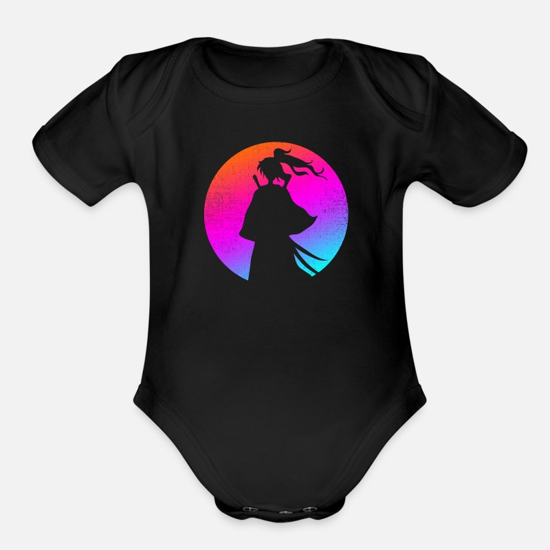 Aesthetic Baby Clothing - color sam - Organic Short-Sleeved Baby Bodysuit black