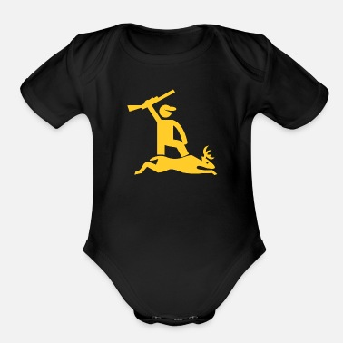 Deer Hunter deer hunter - Organic Short-Sleeved Baby Bodysuit