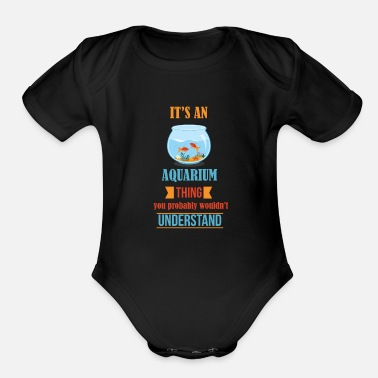Aquarium It's Aquarium Thing - Organic Short Sleeve Baby Bodysuit