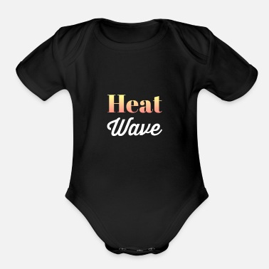 Temperature Heat Wave High Temperature - Organic Short-Sleeved Baby Bodysuit