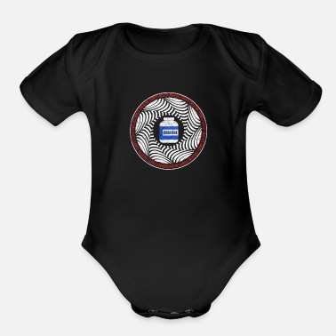Workout Humorous Bloated Creatine Artwork - Organic Short-Sleeved Baby Bodysuit