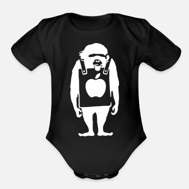 Music Club Monkey music club - Organic Short-Sleeved Baby Bodysuit
