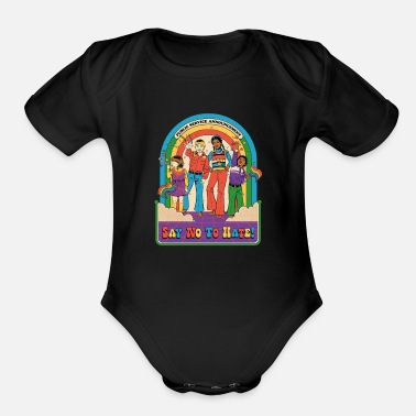 Smiffys say no to hate - Organic Short-Sleeved Baby Bodysuit