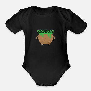 Witches Brew Witch Brew Halloween - Organic Short-Sleeved Baby Bodysuit