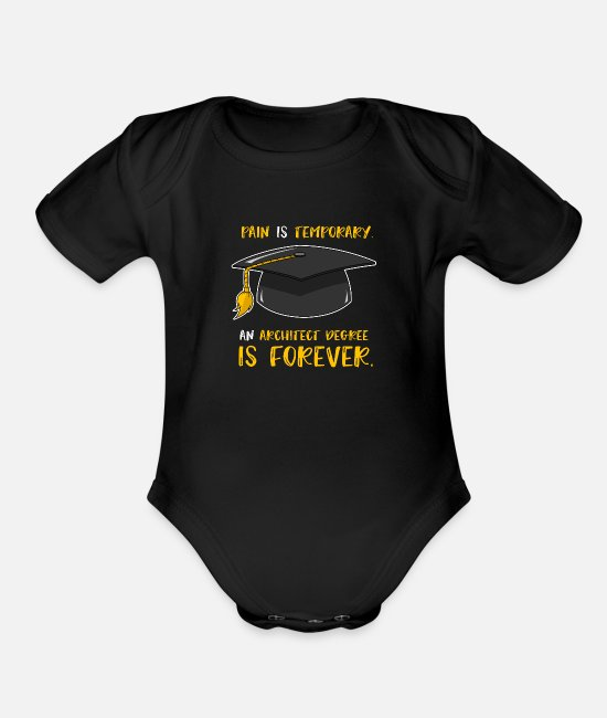 Design Baby One Pieces - Architecture Architect Student Architectural Gift - Organic Short-Sleeved Baby Bodysuit black