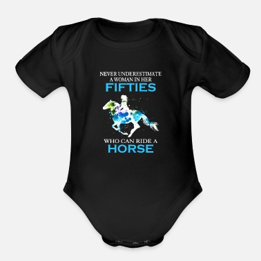 Wholetrain never inderestimate a woman in her fifties who can - Organic Short-Sleeved Baby Bodysuit